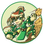 ChibiEarthbender Mako: Button by ExiledChaos