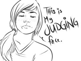 this is my judging face by Tentacuddles