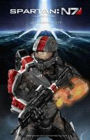 Mass Effect/Halo Fan Art Mash-up: Spartan N7 by rs2studios