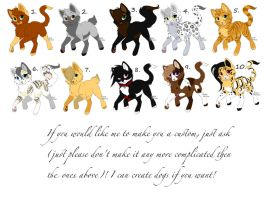 Free Cat Adoptables!!!!!!! -Closed- Srry =,( by KibaHunt