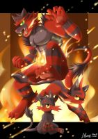 Flame Cats by AKamihara