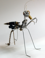 Steampunk Mantis by a-small-piece-of-ham