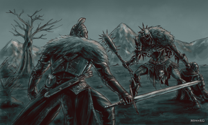 Dark Souls 2: Faraam Knight vs Executioner by MenasLG