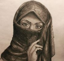 Muslim woman drawing by Zaina19