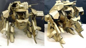 Cardboard MAU  (Man Armored Unit) from RFO by Higashikara