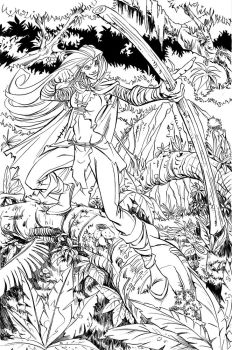 Warrior_elf_layoutRefs_inks by Hunka