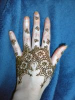 Flower Henna Half Glove Paste by flowerwills