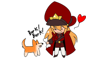 Helena and Doggie by nancher