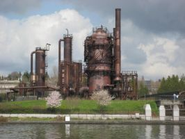 Seattle Gasworks Park stock by chamberstock
