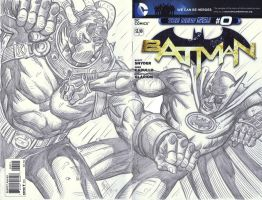 Batman VS Bane on Batman #0 Blank Cover variant by valiantonov
