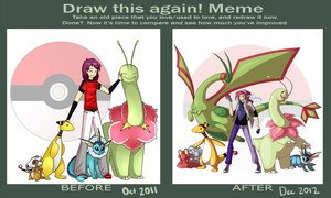 Draw this again! Pokemon by Jennilah