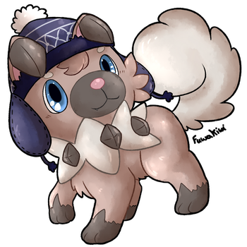 Pretzel the Rockruff by KiwiBeagle