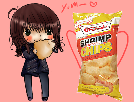 Shrimp chips. by Nyahko