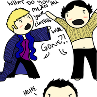 What if Jawn and Sherlock switched clothes?! by ExtremlySelfishChild