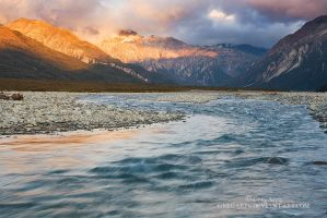 Waimakariri sunrise by GregArps
