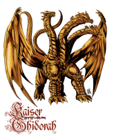 KAISER GHIDORAH coloured by neurowing