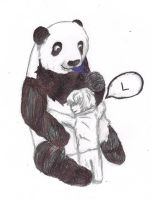 Panda L and Little Near by CaffeinatedSketches