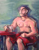 deformation Figure Oil painting by barisgbo
