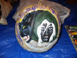 Drizzt+Guen Pumpkin -large pic- by PoldalleLovesnare
