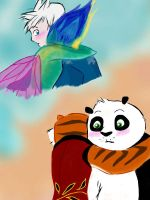RainbowCnowcone and TiPo hugs. by Nilusanimationworld