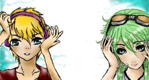 Gumi and Len by korinnlane