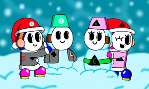 Shy Guy Snowmen by MarioSimpson1