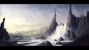 Waterfall by MishaART