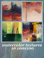 10 Watercolor Textures by Bourniio