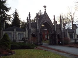 Forest Hill Cemetery Gate by sgath92