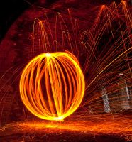 Wire wool orb 3 by AngiWallace