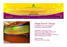 Stage Banner by sarthahirah