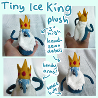 Tiny Ice King Adventure Time plush! by SilkenCat