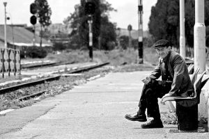 old man at the station by MaraDamian