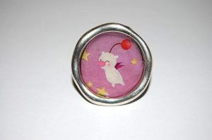 Antiallergic Moogle adjustable ring by knil-maloon