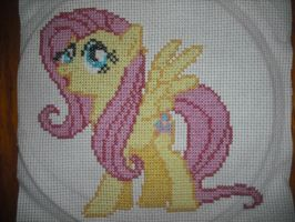 Cross-stitch Fluttershy by SecludedOtaku