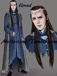 The White Council : Elrond by MellorianJ