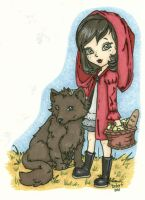 Little Red Riding Hood Colored by katydoench