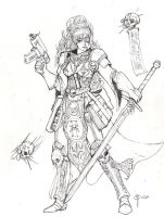 Inquisitor Josephine: sketch.. by blackswordsman28