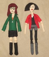 Daria and Jane Dolls by Sner2000