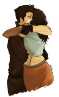 Makorra Hug by SilentTheNinja