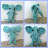 Crochet Elephant Amigurumi Pattern by Windowsillcharms