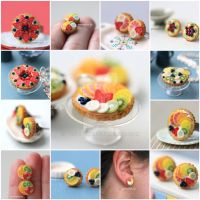 Miniature Food - Fruit Tart Jewelry New Version by PetitPlat
