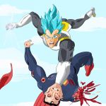 Vegeta vs Superman by ProjectCornDog