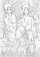 Madara and Izuna ::Gift:: by iMadara