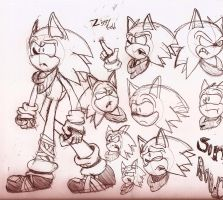 Sonic Boom: Sonic The Hedgehog doodles by Ziggy-Gold