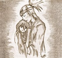 BLEACH: Renji x Rukia Sketch by Ainwen27