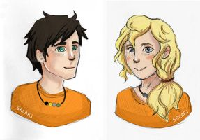 Percy Jackson and Annabeth Chase by Sacari