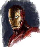 Iron Man Sketch by AnoukvanderMeer