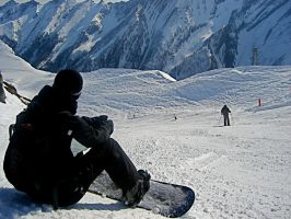Lonesome Snowboarder by scarletfever2302