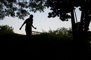 Tom In The Woods Silhouette by missionverdana
